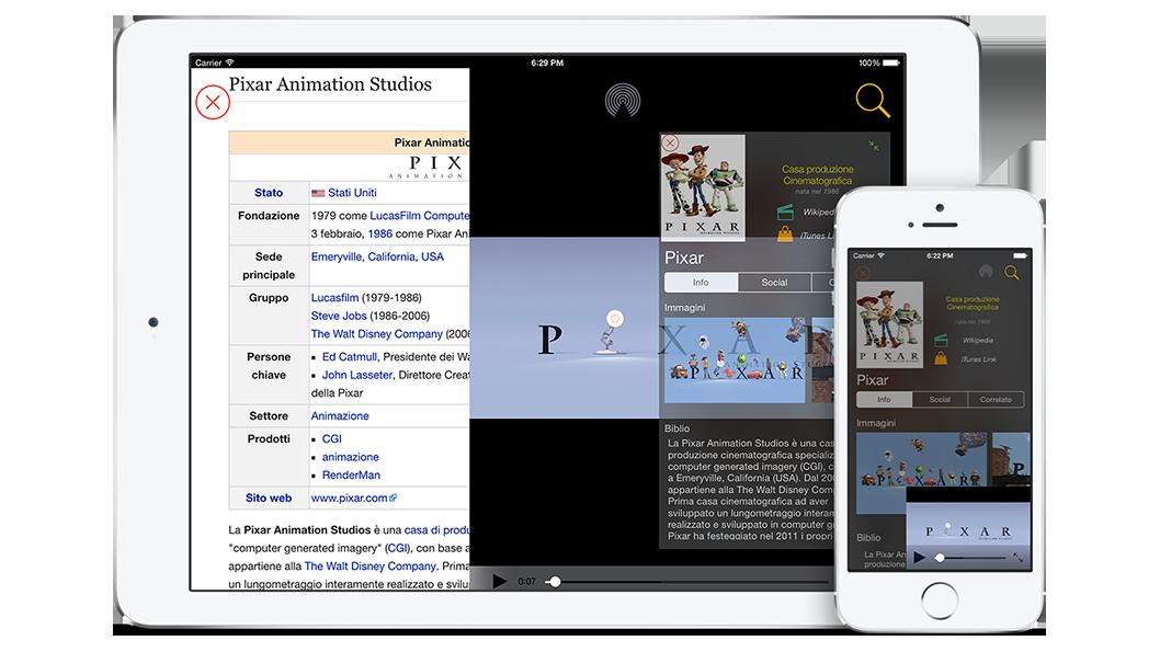 Applicazione Touch4Movie Esempio